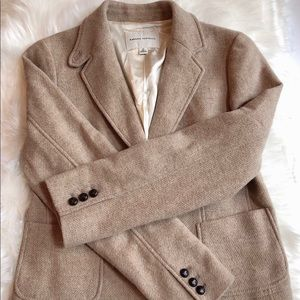 Banana Republic Tan Wool Blend Blazer Jacket 12